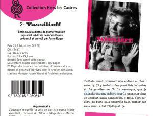 FOUJITA et VASSILIEFF  éditions Paradox -Collection « Hors les cadres » Juin 2018