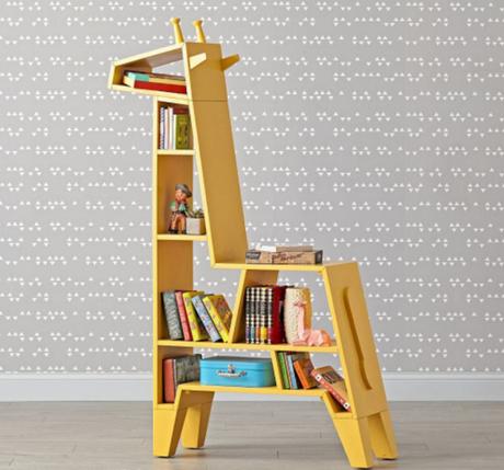 Une bibliothèque design pour les enfants
