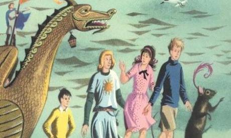 The Voyage of the Dawn Treader, dйtail de la couverture du livre