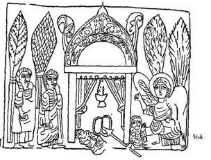 Type syriaque Tetraevangile du Bristish Museum XIIeme G. Millet. Recherches sur l'iconographie de l'Evangile fig 564