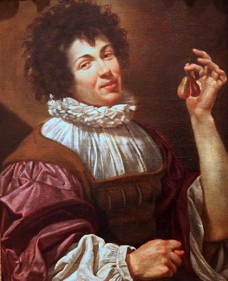 Jeune homme aux figues simon vouet cc1615 musee des beaux arts de Caen,