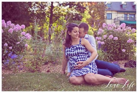 Photographe Grossesse Couple Champetre Nanterre