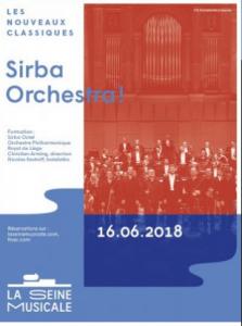 Sirba octet à la seine Musicale le 16 juin à 20h30