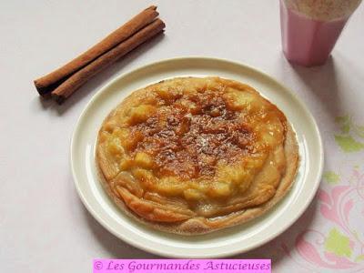 Tarte fine à la Rhubarbe avec une crème pâtissière Vegan