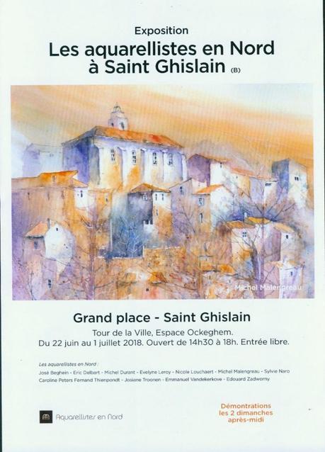 Douze aquarellistes en Nord exposent en Belgique  à Saint-Ghislain près de Mons