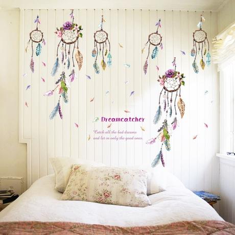 attrape rêve au dessus du lit