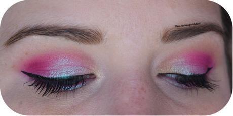 Fuchsia Holographic Makeup {Life's a Festival}