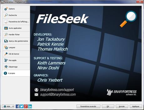 FileSeek - recherche rapide de contenu de fichiers