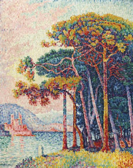 Paul Signac (1863-1935), Antibes (la pinède), huile sur toile, 92.3 x 73.5 cm, décembre 1917