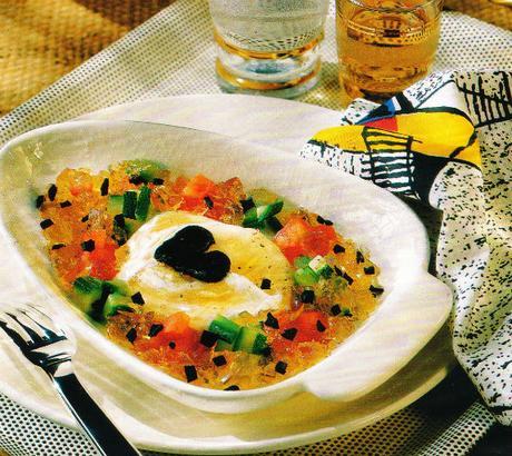 Les œufs Froufrou à la truffe et à la gelée de Madère