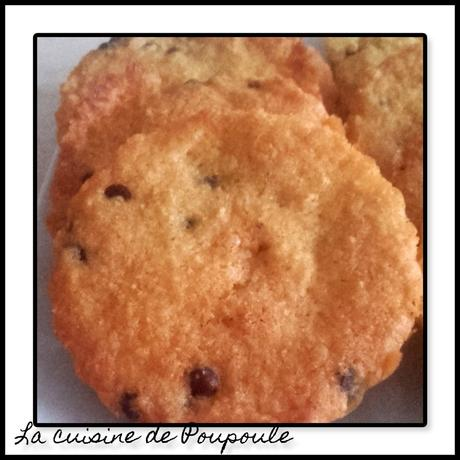 Biscuits croquants aux pépites de chocolat au thermomix ou sans