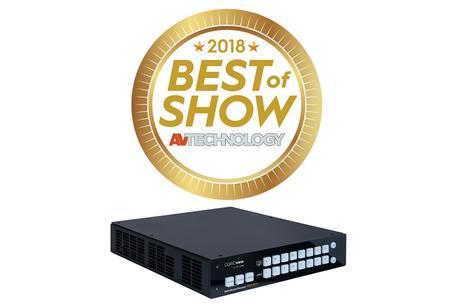 Le processeur multi fenêtrage tvONE CORIOview 4K récompensé par le Best Of Show à l'InfoComm 1018