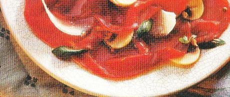 Carpaccio de bœuf au Pecorino et basilic