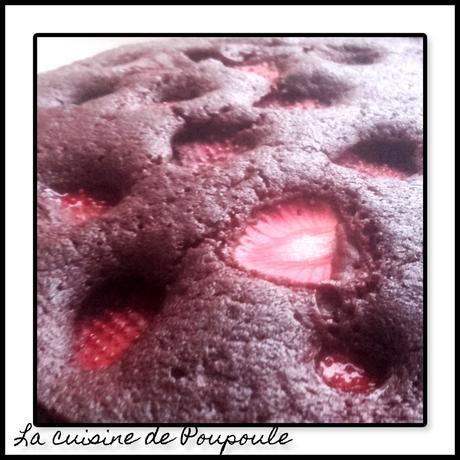 Gâteau au chocolat et fraises
