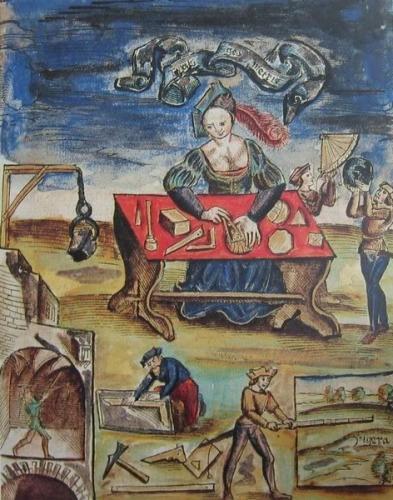 Typus_geometriaeGregor Reisch, Margarita Philosophica, 1517