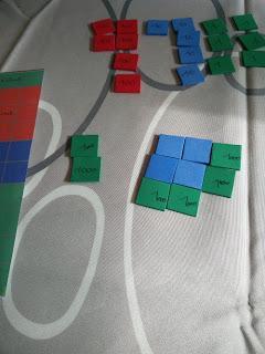 Racine carrée sensorielle, façon Montessori