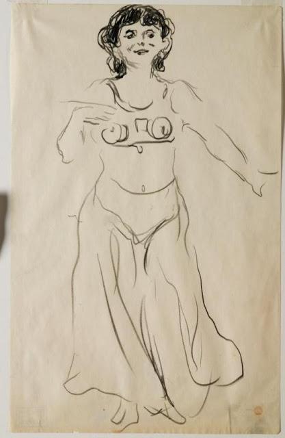 Quand Munch dessinait la danse d'Anitra d'après Peer Gynt