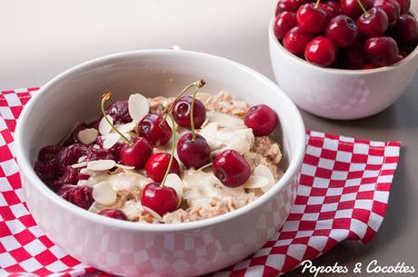 Porridge aux cerises
