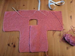 Paletot bébé facile à tricoter point mousse Cocon Ambulant