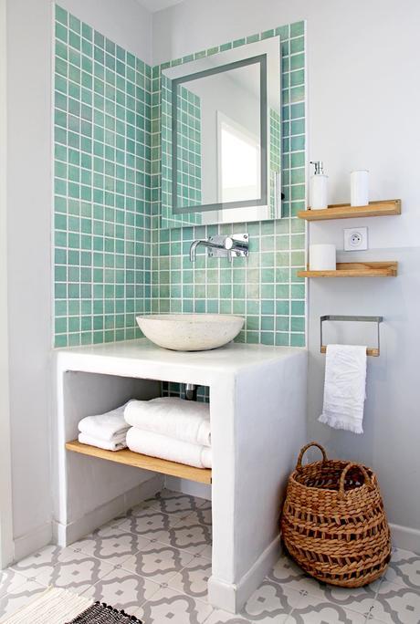 salle de bain panière