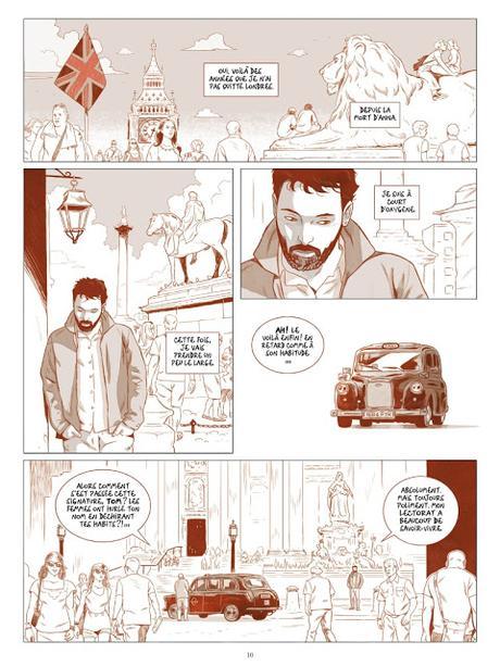 Londres - Santorin aller-retour Page 10 aux éditions Casterman
