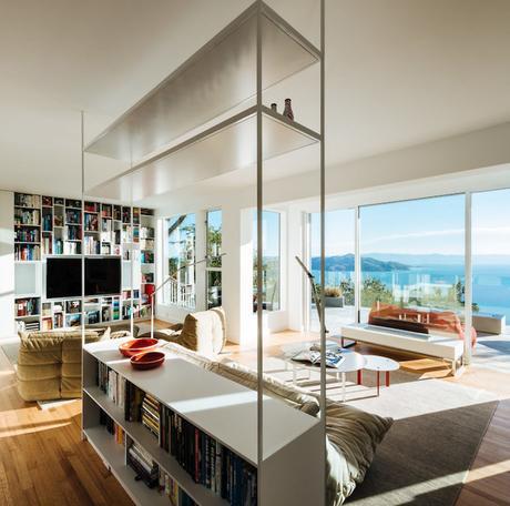 villa californienne salon double vue sur ocean deux esapces