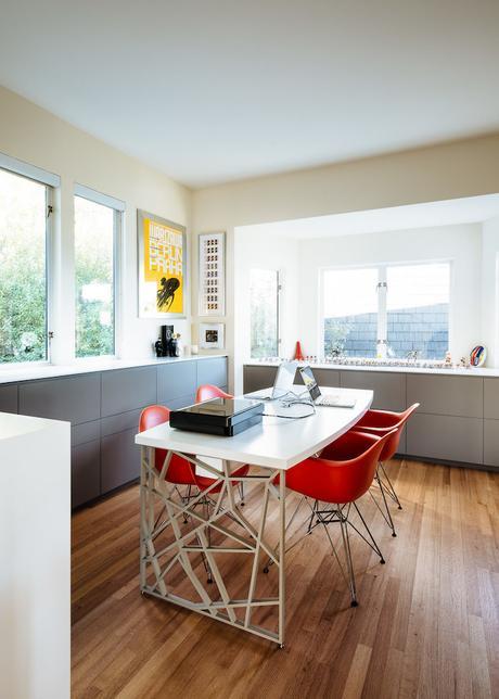 villa californienne cuisine couleurs chaises