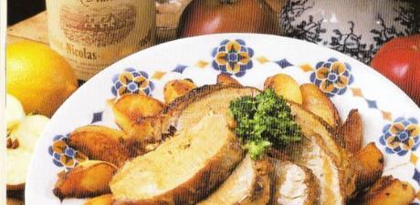 Le rôti de porc aux pommes