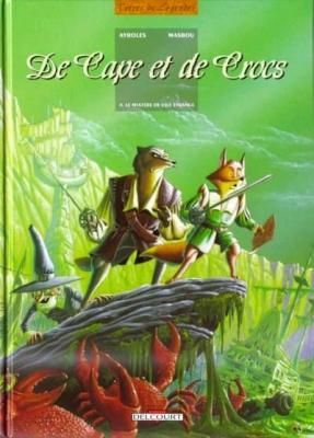 Couverture De cape et de crocs, tome 04 : Le Mystère de l'île étrange