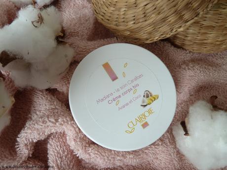 Crème corps bio Madiana signée Clairjoie - un goût de paradis