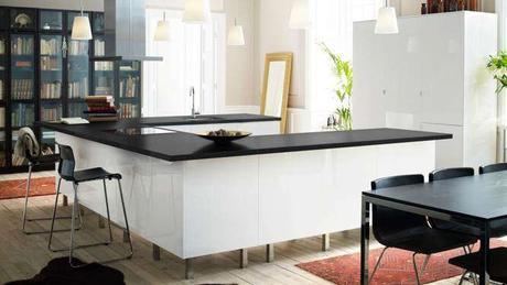 Des cuisines avec des meubles bas