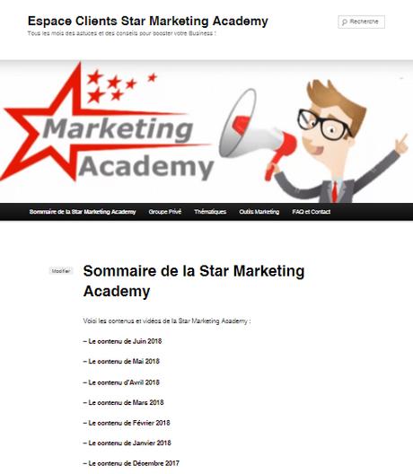 Les vidéos de Juin pour ma formation continue au WebMarketing : la Star Marketing Acacemy