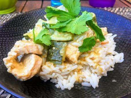 Curry vert de dinde aux courgettes
