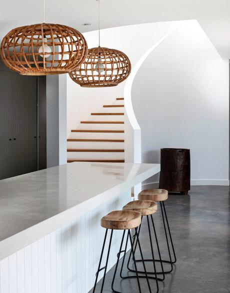 beach house cuisine beton cire rotin blog déco clem around the corner