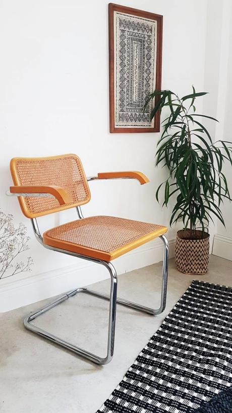cannage métal Chaise cesca B64 Marcel Breuer blog déco clemaroundthecorner
