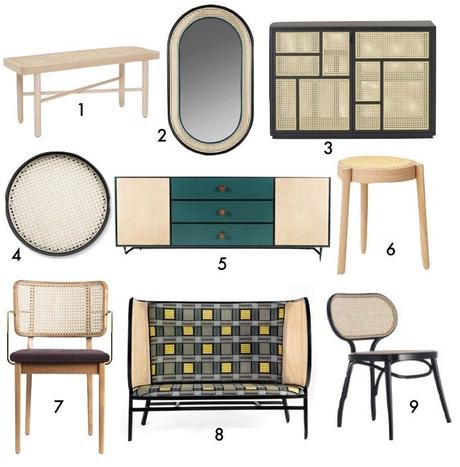 tendance decoration cannage miroir chaise banc buffet blog déco Clem Aorund The Corner