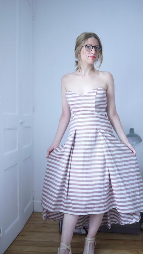 Une robe bustier pour l'été ! Le 913 de DpStudio.