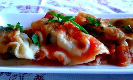 Dumplings d'asperges et frauxmage