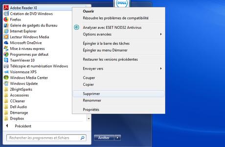 Comment supprimer un dossier ou un raccourci dans le menu Démarrer de Windows 10