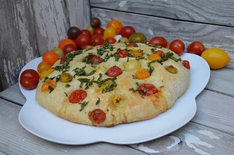 Focaccia aux tomates cerises