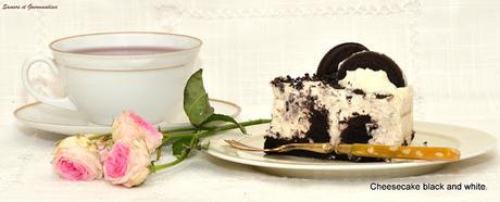 Cheesecake Black and White (cheesecake aux oréos).