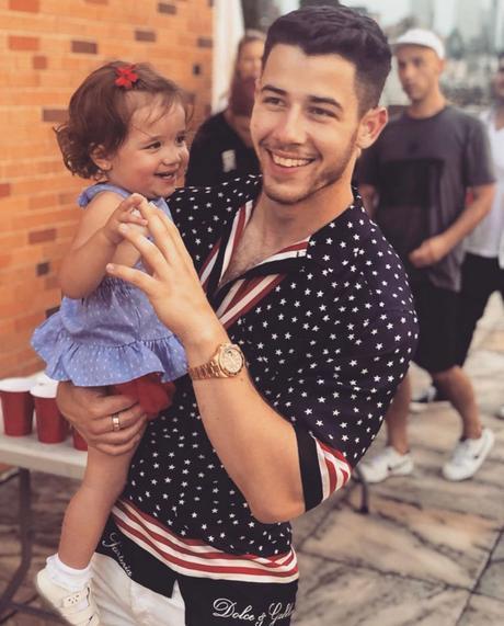Independence day : Nick Jonas with an American Flag Print Shirt