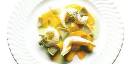 Filets de sole et artichauts à la coriandre