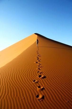 La marche dans le désert