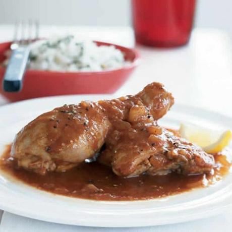 Cuisses de poulet et sauce avec thermomix