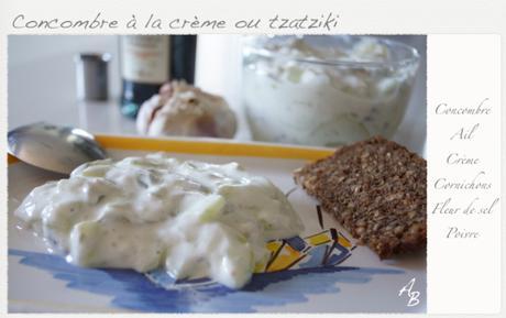 Concombre à la crème ou tzatziki grec