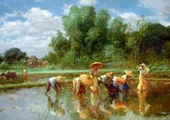1922_Fernando Amorsolo_Rice planting