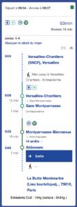En route pour l'aventure, de Versailles à Paris.