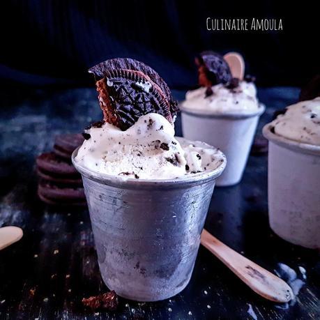 Glace cheesecake à la vanille et aux Oreos