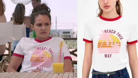 DEMAIN NOUS APPARTIENT : t-shirt «beach this way» pour Eva dans l'épisode 248